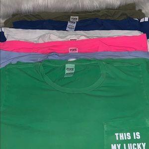 6 PINK tshirts